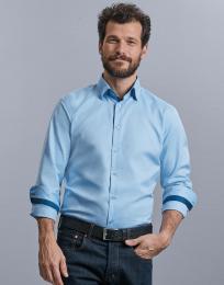 Pánská košile s dl.ruk.Tailored Contrast Herringbo