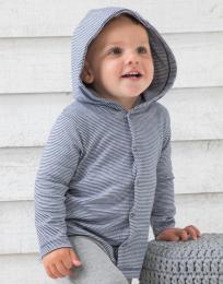 Baby pruhované trièko s kapucí