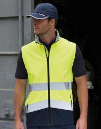 Potisknutelná Safety Softshell vesta
