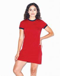 Dámské trièko-šaty Poly-Cotton Ringer