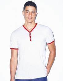 Unisex trièko s Y-výstøihem Poly-Cotton Ringer