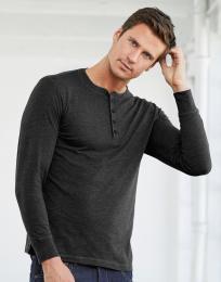 Pánské trièko Henley s dlouhými rukávy