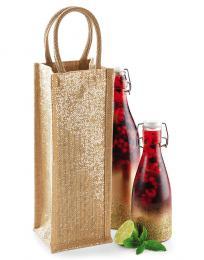 Jutová tøpitivá taška na láhev