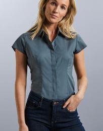 Dámská košile Poplin s krátkým rukávem