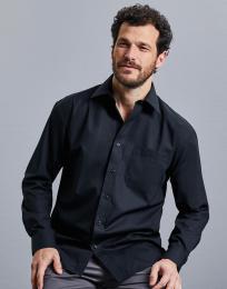 Košile z popelínu s dlouhým rukávem