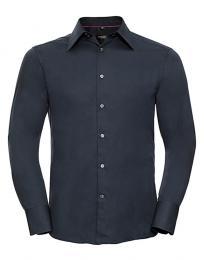 Vypasovaná košile Tencel s dlouhým rukávem