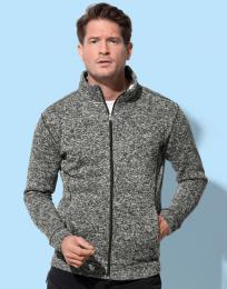 Pánská pletená fleece bunda