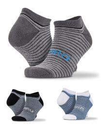 3-Pack mix pruhované sneaker ponožky