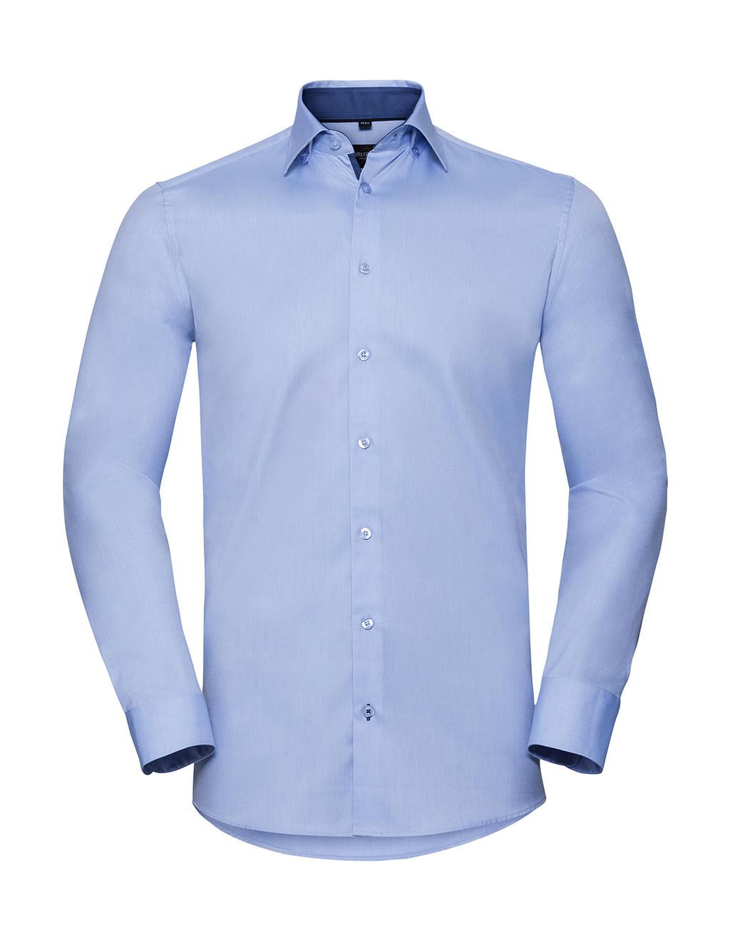 Pánská košile s dl.ruk.Tailored Contrast Herringbo - zvìtšit obrázek