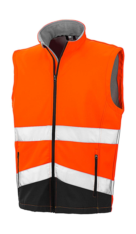 Potisknutelná Safety Softshell vesta - zvìtšit obrázek