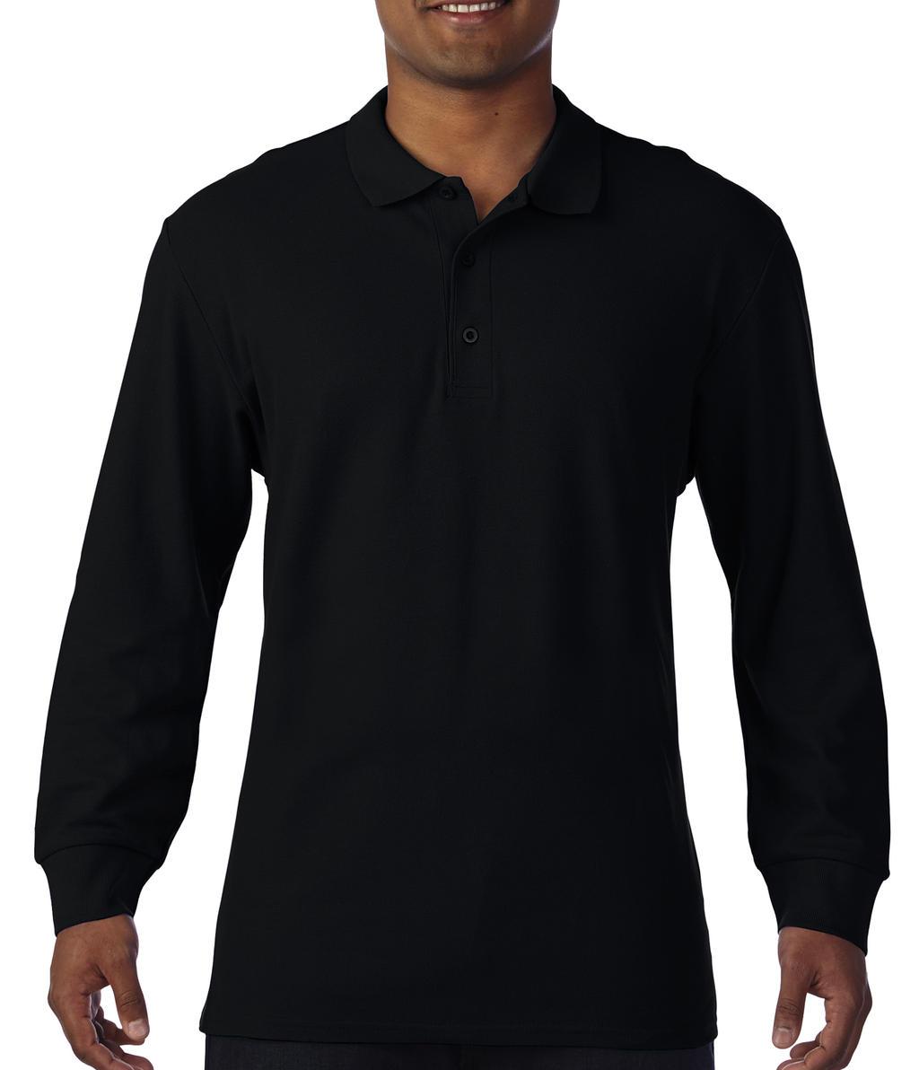 Premium Cotton Adult Double Piqué Polo LS - zvìtšit obrázek