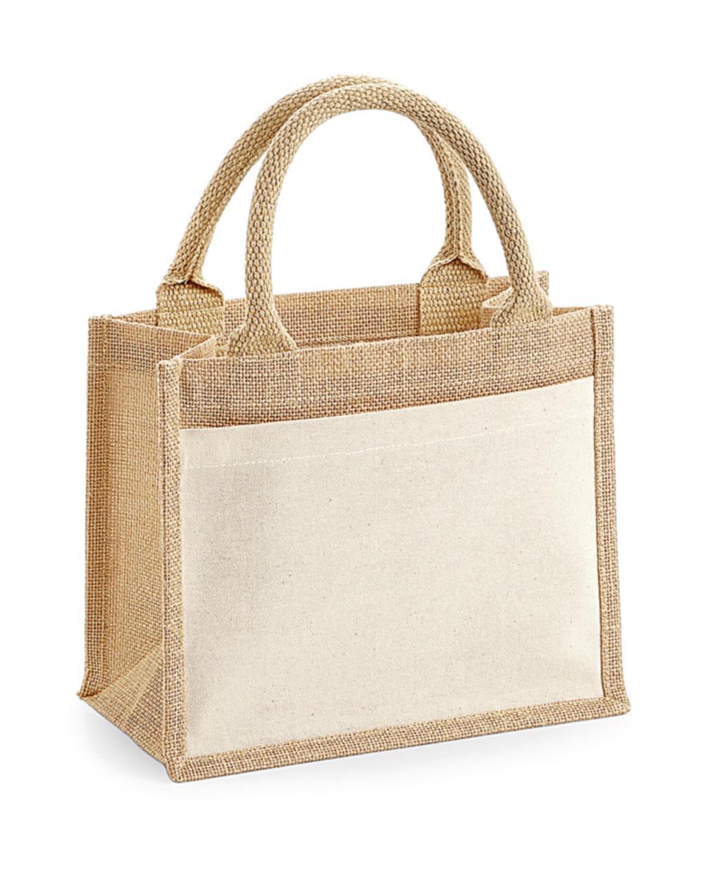 Bavlnìná taška s kapsou z juty Gift - zvìtšit obrázek