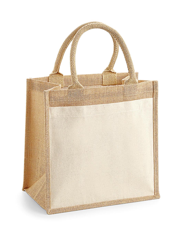 Bavlnìná taška s kapsou z juty Midi - zvìtšit obrázek