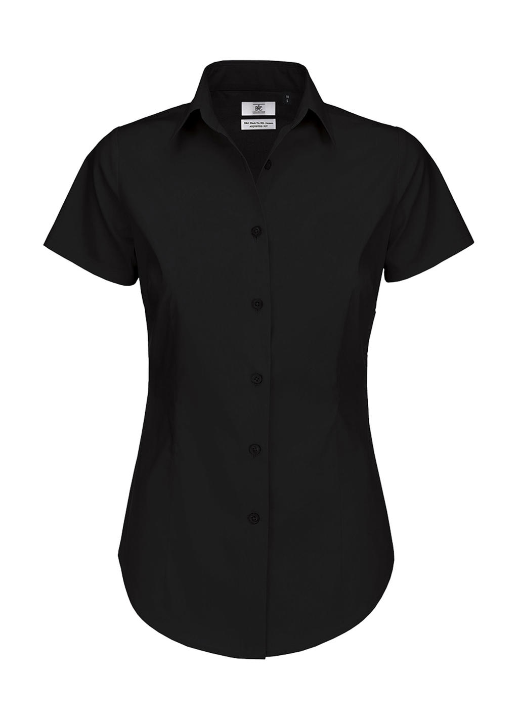 Dámská popelínová košile Elastane s krátkým rukáve - zvìtšit obrázek