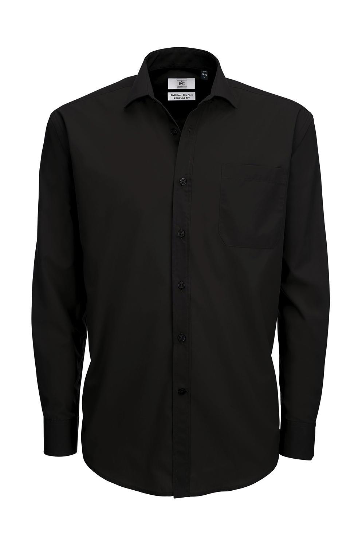 Pánská popelínová košile s dlouhým rukávem Smart - zvìtšit obrázek