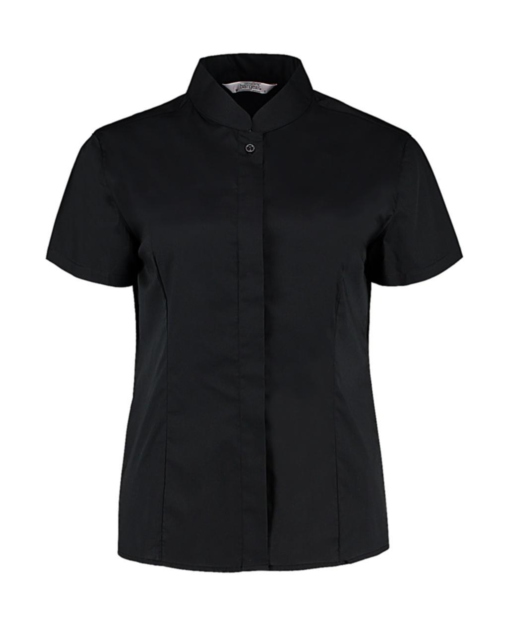 Dámská košile Mandarin Tailored fit s kr. r. - zvìtšit obrázek