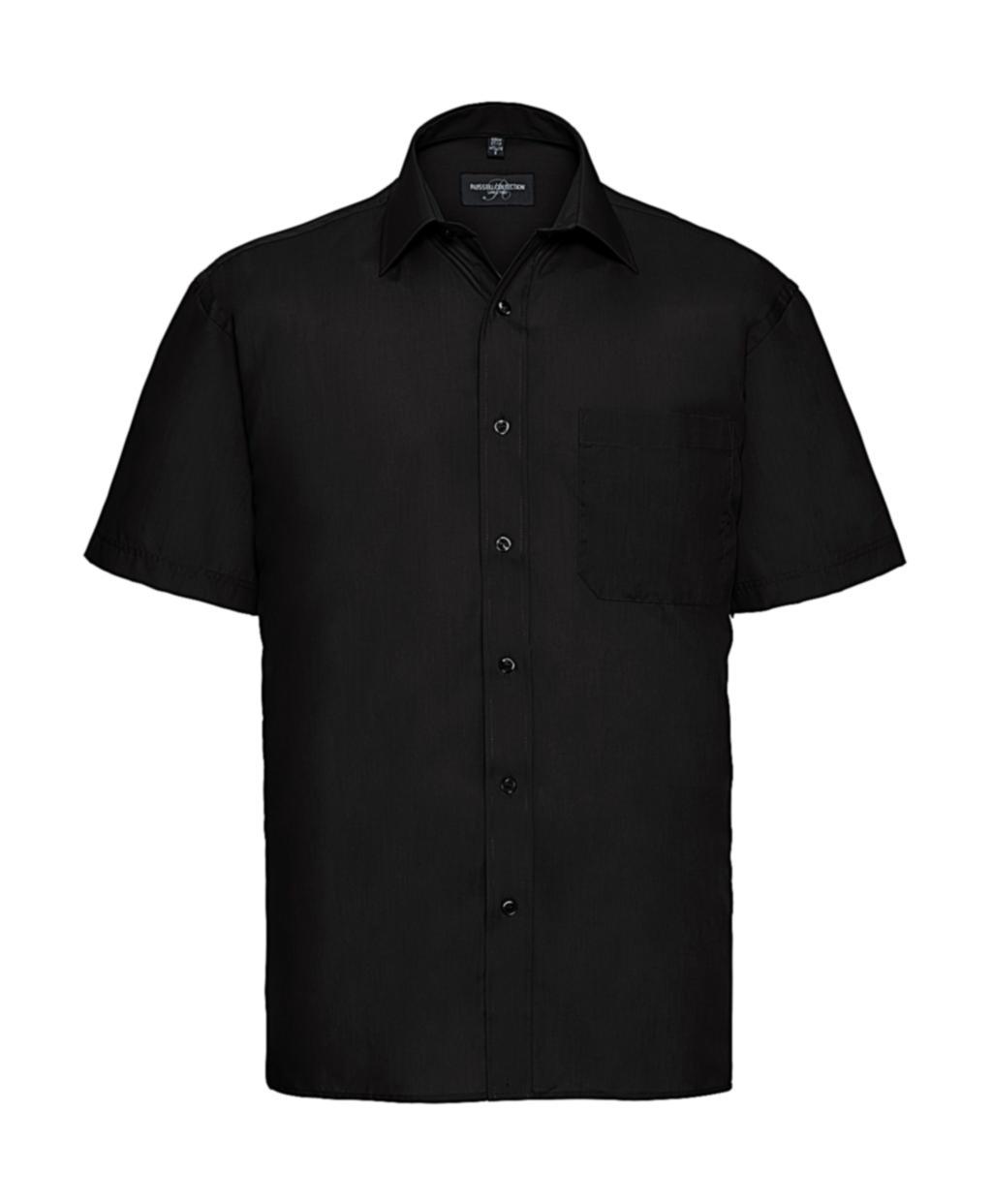Popelínová košile s krátkým rukávem a kapsou - zvìtšit obrázek