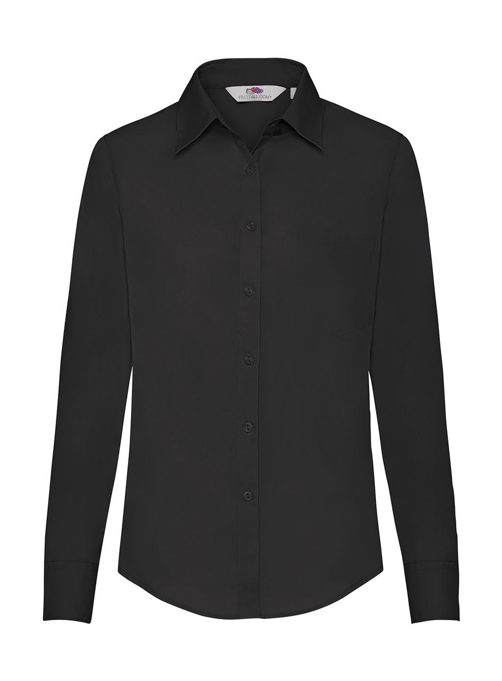 Dámská popelínová košile s dlouhým rukávem - zvìtšit obrázek