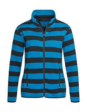 Dámská pruhovaná fleece bunda - zvìtšit obrázek