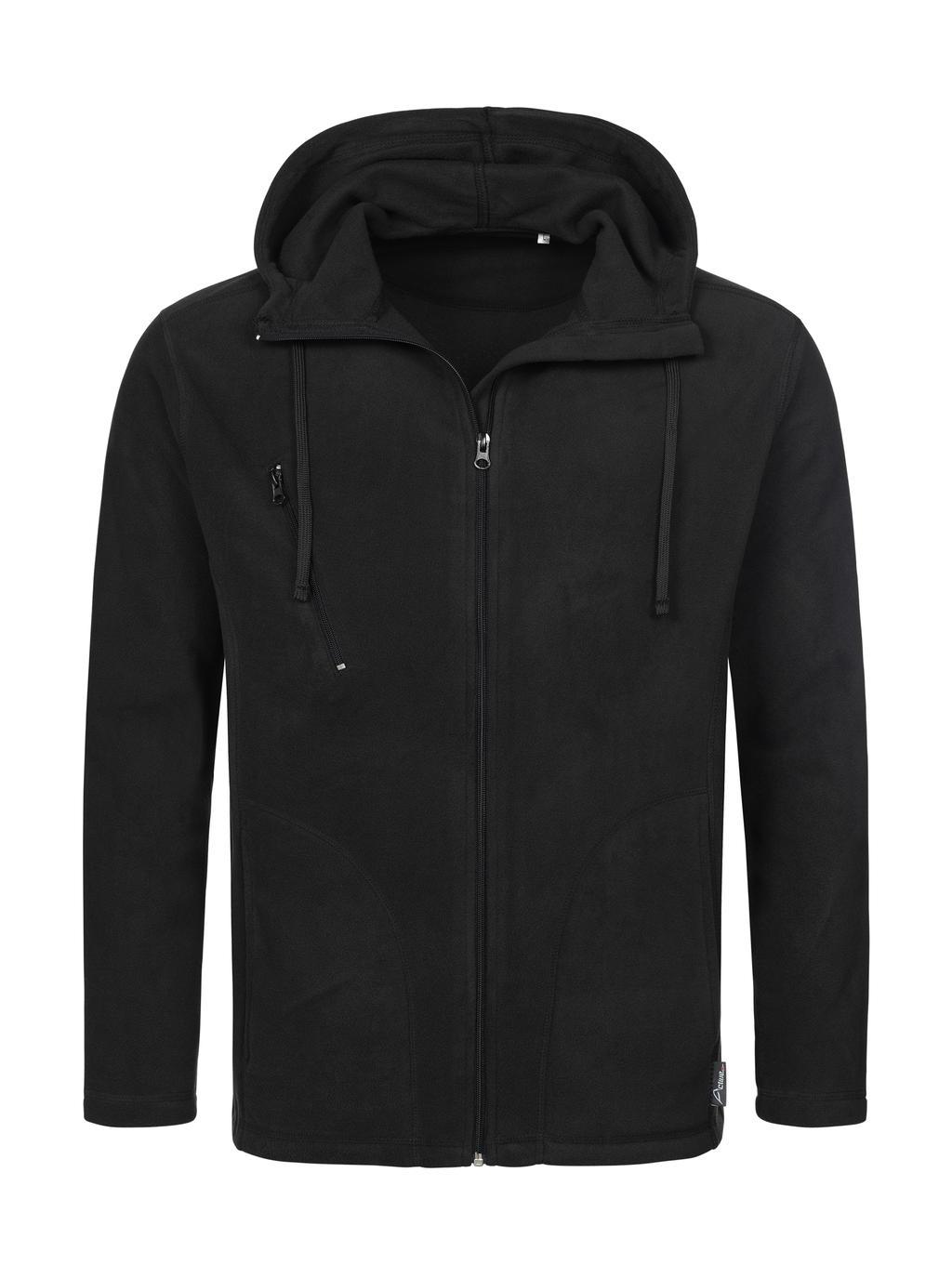 Pánská fleece bunda s kapucí a dl. zipem - zvìtšit obrázek