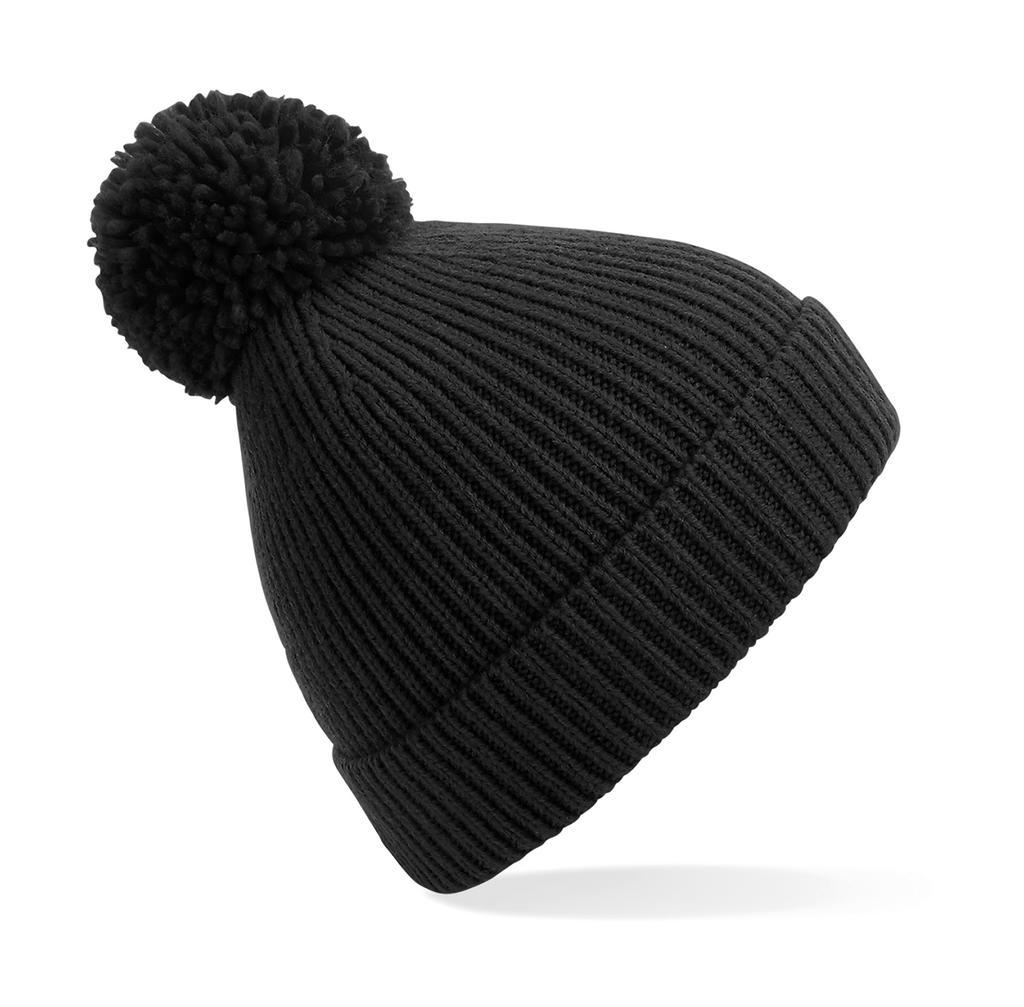 Kvalitní pletená žebrovaná èepice Pom Pom Beanie - zvìtšit obrázek