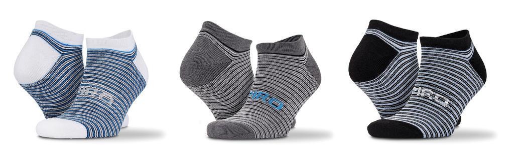 3-Pack mix pruhované sneaker ponožky - zvìtšit obrázek